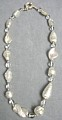 Silver Foil Venetian Glass Bead Necklace