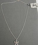 Eisenberg Ice Clear AB Rhinestone Snowflake Necklace