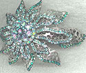 Teal Sunburst Barrette