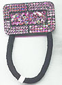 Pinks Rhinestone Ponytail holder