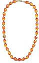 Yummy Orange/Yellow Nugget Bead Necklace with Orange Crystals