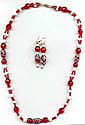 The 'Wake-up Call' Red and White Necklace