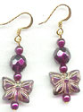 Plum Yum Butterfly earrings