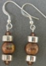 Hot Chocolate Dreams Brown Pear and Sterling Silver Earrings