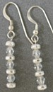 Christianne Sterling Silver and Clear Crystal Earrings