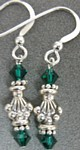 Athena Emerald Green Crystal and Sterling Silver Earrings