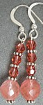 Sweet Cherry Pie  Cherry Quartz and Crystal Earrings