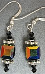 Jaenelle  Black Crystal Cube Earrings