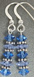"""Delisia"" Blue Crystal Earrings"