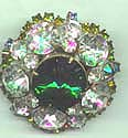 Green Rivoli and Clear RS pin