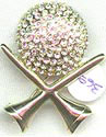 Rhinestone Golf Ball and Tee Pin